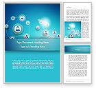 Careers/Industry: Network Circles Word Template #12394