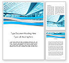 Construction: Modern Office Building Corridor Word Template #12396