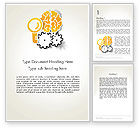 Business Concepts: Working Brain Word Template #12405