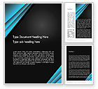 Abstract/Textures: Abstract Black and Turquoise Word Template #12407