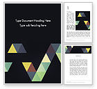 Abstract/Textures: Geometric Triangle Art Word Template #12418