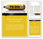 Business Concepts: 워드 템플릿 - 연필 알림 #12429