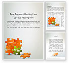 Careers/Industry: Puzzle with Internet Words Word Template #12432