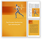 Medical: Jogging and Heartbeat Word Template #12441