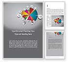 Business Concepts: Pie Chart with Labels Word Template #12465