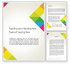 Abstract/Textures: Abstract Colorful Geometric Word Template #12478