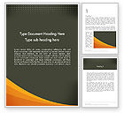 Business: Orange Wave on Gray Word Template #12482