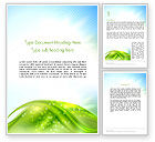 Nature & Environment: Green Dream Spotty Word Template #12501