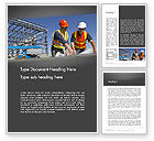 Construction: Building and Construction Word Template #12502