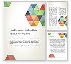 Abstract/Textures: Modern Elegant Colorful Triangle Shapes Word Template #12505