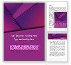 Abstract/Textures: Stylish Purple Word Template #12508