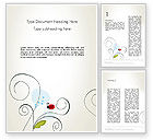 Education & Training: Ladybug in Children Drawing Style Word #12511