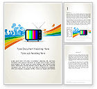 Careers/Industry: Online TV Concept Word Template #12521