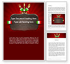 Careers/Industry: Italian Restaurant Word Template #12533