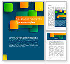 Abstract/Textures: Abstract Flying Colorful Squares Word Template #12535
