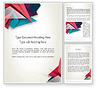Abstract/Textures: Abstract Origami Word Template #12540