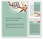 Cars/Transportation: Route 66 Word Template #12543
