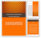 Abstract/Textures: Diagonal Orange Stripes Word Template #12554