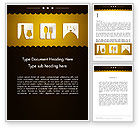 Careers/Industry: Cookbook Icons Word Template #12555