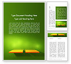 Abstract/Textures: Yellow Boards on Green Wall Word Template #12561