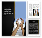 Nature & Environment: Sun in Hands Word Template #12562