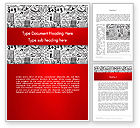 Education & Training: Education and Science Doodles Word Template #12563
