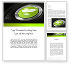 Technology, Science & Computers: Green Start Engine Button Word Template #12581