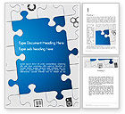 Education & Training: Jigsaw Puzzle Pieces Word Template #12582