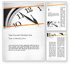 Business Concepts: Five Minutes to Twelve Word Template #12612