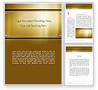Abstract/Textures: Gold Metal Surface Word Template #12615