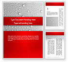 Abstract/Textures: Water Drops Background Word Template #12619