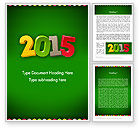Holiday/Special Occasion: 2015 Colored Numbers Word Template #12622