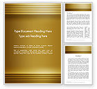 Abstract/Textures: Abstract Golden Horizontal Lines Word Template #12635