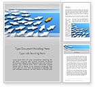 Business Concepts: Managing Arrow Word Template #12644
