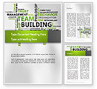 Careers/Industry: Team Building Word Cloud Word Template #12651