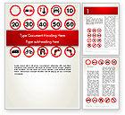 Education & Training: Traffic Signs Word Template #12656