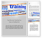 Education & Training: Training and Coaching Word Cloud Word Template #12663
