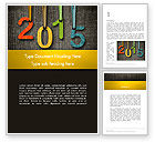 Holiday/Special Occasion: Happy New Year 2015 Word Template #12667