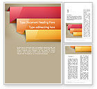 Abstract/Textures: Abstract Colored Steps Word Template #12671