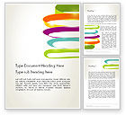 Abstract/Textures: Color Ribbons on White Word Template #12678