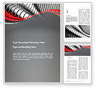 Abstract/Textures: Abstract Metal Bends Word Template #12686
