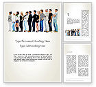 People: People Standing in Line Word Template #12687