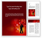 Holiday/Special Occasion: Love Theme with Silhouette of Lovers Word Template #12688