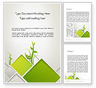 Nature & Environment: Abstract Greenhouse Concept Word Template #12694