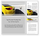 Technology, Science & Computers: Electric Car Charging Station Word Template #12704