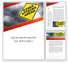 Careers/Industry: Cyber Attacks Sign Word Template #12709