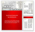 Careers/Industry: Public Relations Word Cloud Word Template #12722