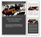 Sports: Street Basketball Graffiti Word Template #12725