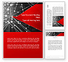 Careers/Industry: Abstract Network Community Word Template #12728
