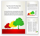 Nature & Environment: Three Trees Word Template #12745